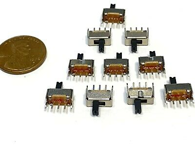 10 Pieces Ss12d07 3pin Mini Micro Small Tiny Slide Switch Pcb On Off 1p2t B10