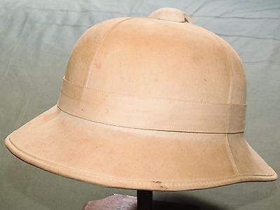"British WW2 8TH ARMY NORTH AFRICA ""WOLSELEY"" PATTERN KHAKI PITH HELMET 1942 Vtg"