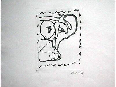 Pierre ALECHINSKY s/n Etching Poèmes à voir 1986