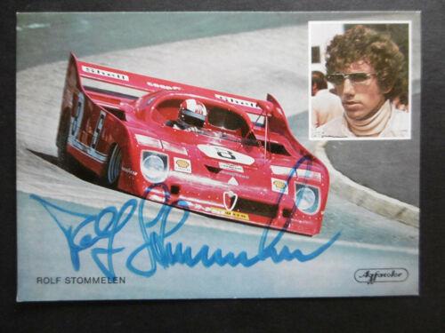 Rolf Stommelen Autogramm signed 10x15 cm Postkarte