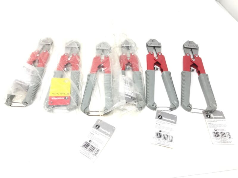 "Lot Of 6 - Great Neck BC8 8"" Midget Bolt Cutters - Brand New W/Tags. Ships Free!"