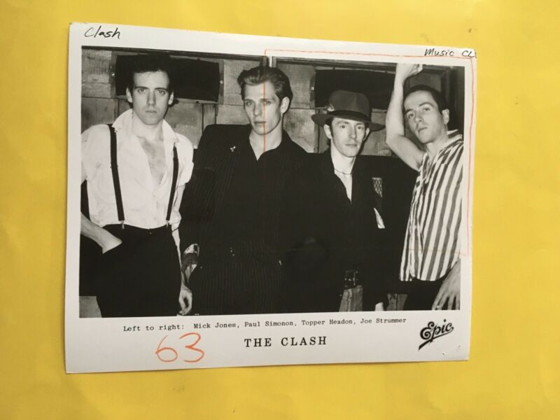 "The Clash Press Photo 8x10"". See Info."