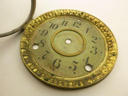 """Antique Seth Thomas 5 7/8""""D Mantel Clock Dial Bezel w/ Glass Arabic Numerals"""