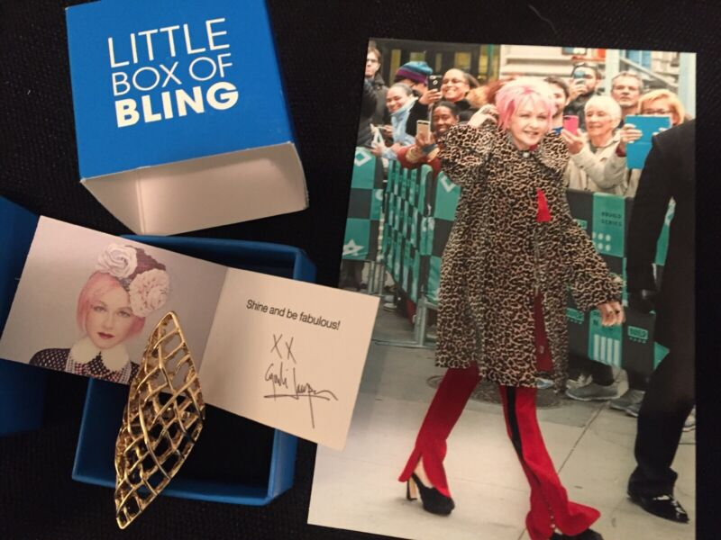 Cyndi Lauper TOUCH OF CYN Goldtone Lattice Ring & Box SIZE 5 HSN Exclusive