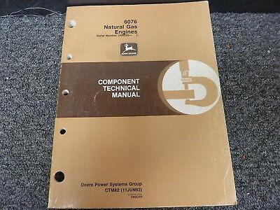 John Deere 6076 Natural Gas Engine Operation Test Service Repair Manual Ctm82