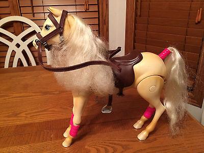 Mattel Barbie Tawny Palomino Jumping Horse w/ Sound, Saddle, Bridle