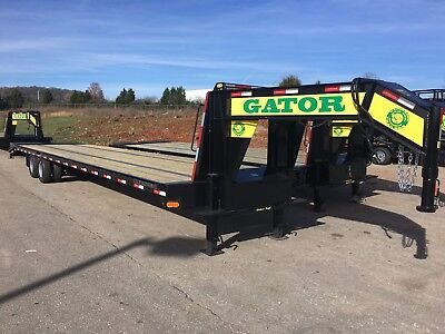 355 Ft Hot Shot Freight Flat Bed Air Ride Gooseneck Gator Made Trailer