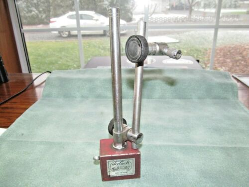 Vintage Teclock Magnetic Base w/Arms & Indicator Holder - Made in Japan