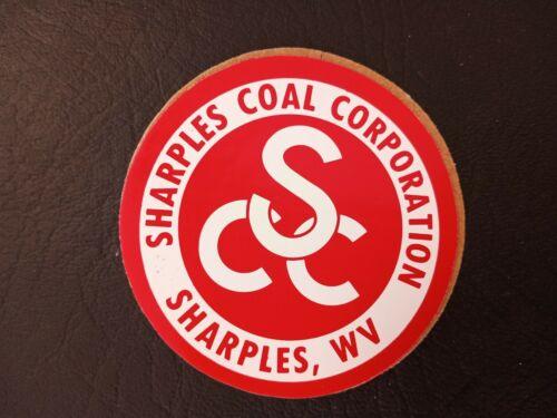 NICE! SHARPLES COAL COMPANY MINING STICKER HARD HAT DECAL RARE VINTAGE