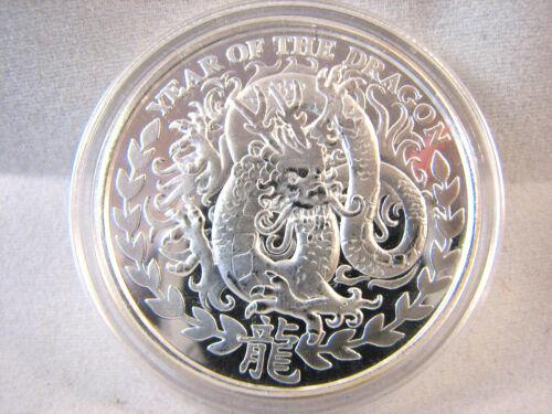 2012 Somalia 1 ounce Silver Dragon 1000 Shillings Coin + Airtite  Somaliland