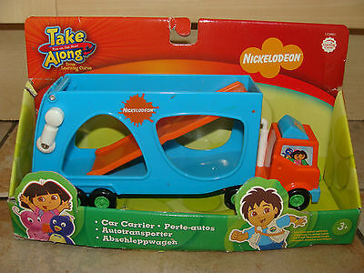 LEARNING CURVE TAKE ALONG GO DIEGO CAR GO & DORA CARRIER TRUCK LORRY NICKELODEON