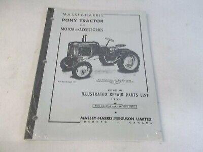 Massey Harris Pony Tractor Repair Parts List 1954 Reprint