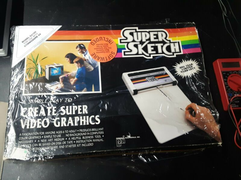 Commodore 64 C64 Super Sketch G2100 in original Box, 100% Complete