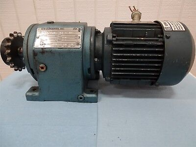Sew-eurodrive Dft71d4 Electric Motor .5hp 1700rpm 3ph With Reducer 56.17