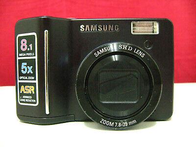 Samsung S850 Digital Camera, 8.1 MP, 5x Optical Zoom, ASR, Black