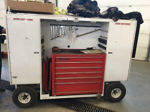 Pit cart with snap-on tool box