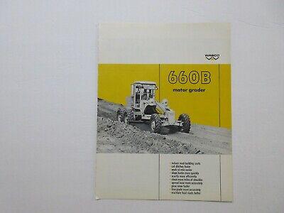 Rare Wabco 660b Motor Grader Sales Brochure 1967