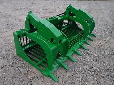 John Deere Tractor Loader Attachment - 80 Rock Bucket Grapple - Ship 199
