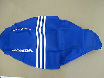 Blue ribbed Gripper Seat Cover Team Honda CR125 CR250 2002-2007
