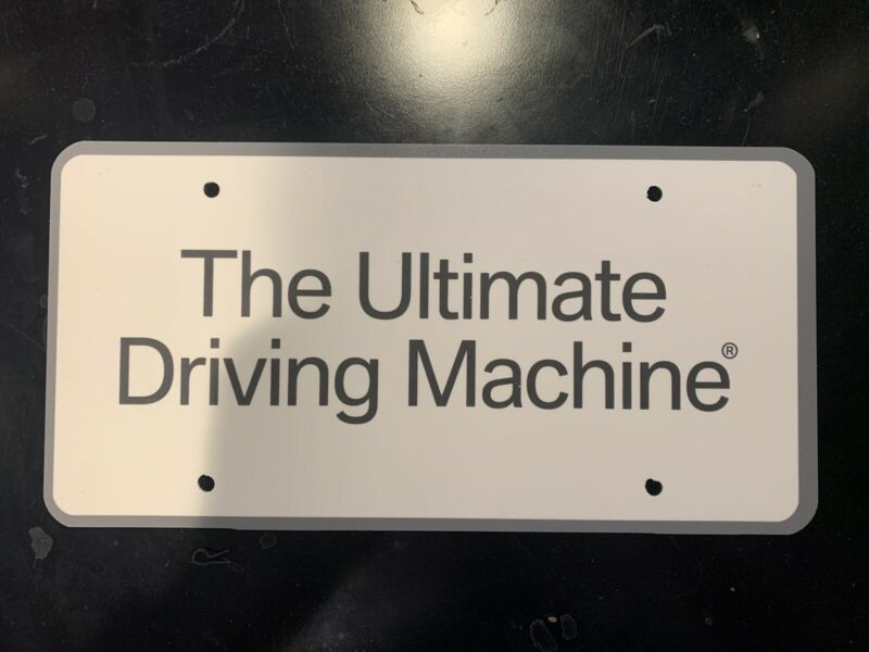 "BMW Collectible License Plate For Car Shows & Display ""Ultimate Driving Machine"""