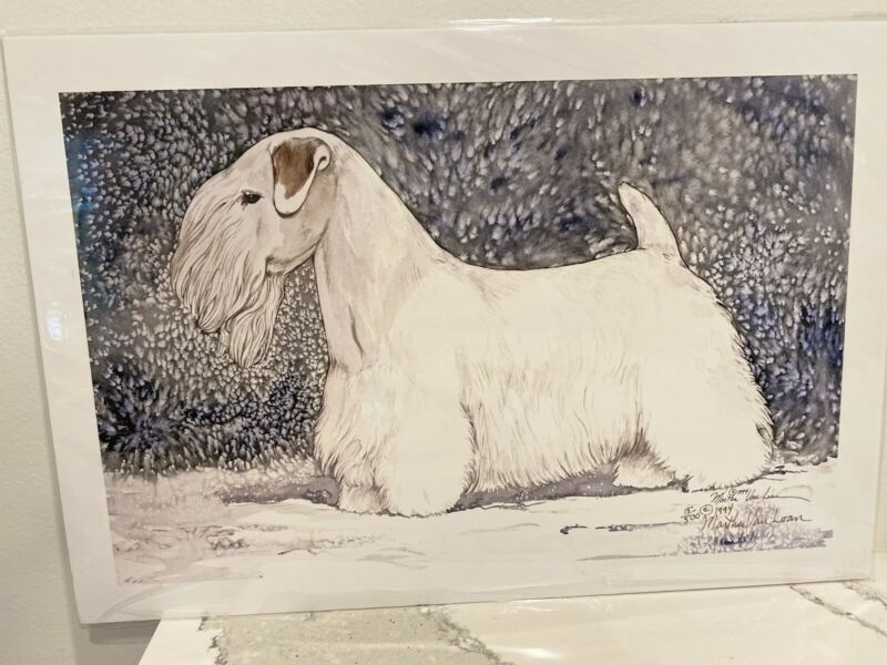Sealyham Terrier Ltd Ed 11x14 Print By Martha Van Loan