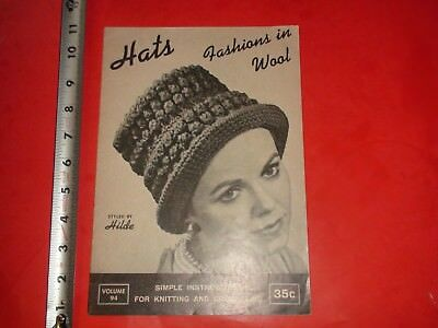 BB248 Vintage Sewing Catalog Guide Hats Fashions in Wool Seamstress Sew