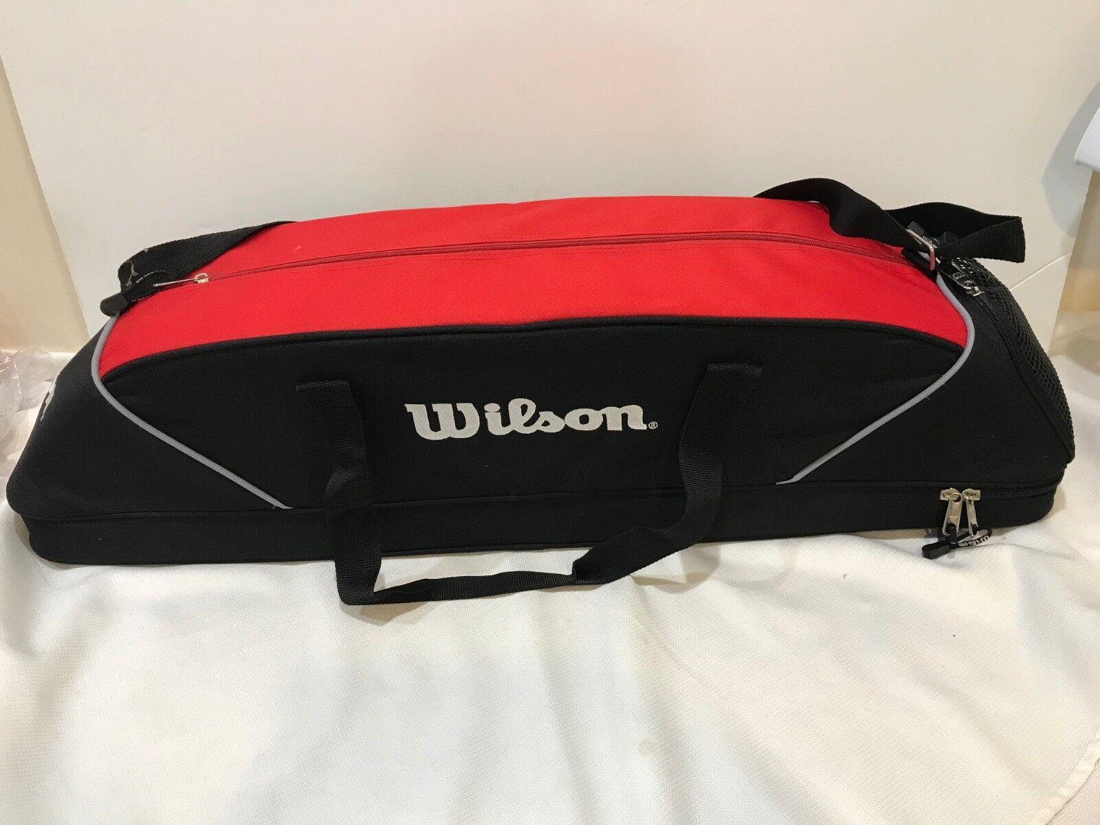 Wilson Gear Baseball Bag Red Black Holds Bats Helmet Balls M