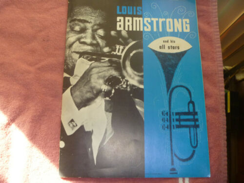 Autographed/Signed Louis Armstrong And His All Stars Program Lansing mi. 1965