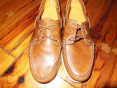 - Quoddy Hand Made Men's Whiskey Boat Shoe, Vibram soles, size 10.5, D.M.  N.W.Bag