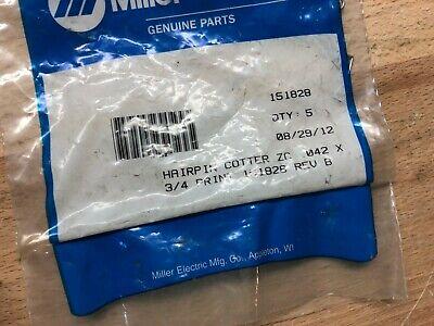 Miller Hairpin Cotter Pin Part 151828 Bag Of 5