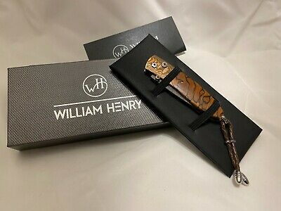William Henry Pocket Knife Collectable B05 Autumn Damascus Steel