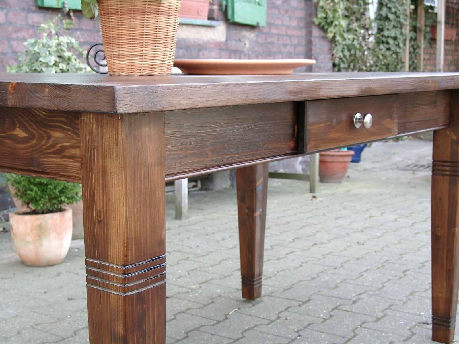 Esstisch tisch massivholz k chentisch landhaus for Schreibtisch 150