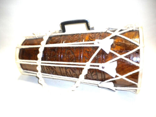 Nice Unique Beautiful Drum Rare Gift Rosewood Dholak India Percussion Instrument