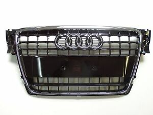 original audi a4 8k b8 grille calandre noir brillant 8k0853651 t94 ebay. Black Bedroom Furniture Sets. Home Design Ideas