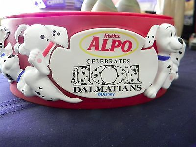 101 DALMATIONS Alpo Dog Puppy Bowl Wate/ Food 3D Disney Vintage 90's Collectible