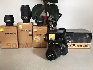 Nikon D5200 + 4 lenses West Moonah Glenorchy Area Preview