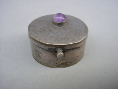 Vintage TAXCO MEXICO STERLING SILVER 925 SMALL TRINKET OR PILL BOX ~ Signed