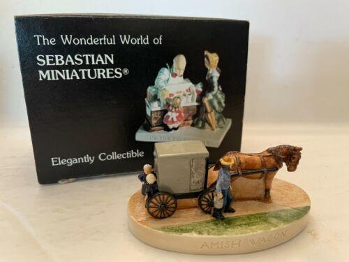 Vintage 1987 Sebastian Miniatures Amish Wagon