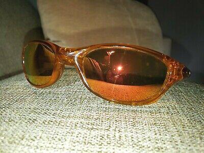 Vintage Oakley Fives Sunglasses Orange on Orange VGUC Mirrored Lenses (Oakley Sports Wrap Around Sunglasses)