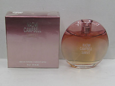 Naomi Campbell Sunset By Naomi Campbell 2 5 Oz  Eau De Toilette Spray New In Box