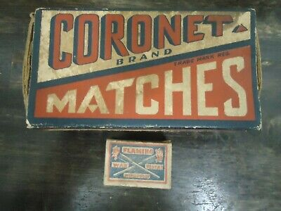 VINTAGE WOODEN MATCHES CARDBOARD BOXES-RUSTIC-ADVERTISING-COTTAGE-FARM-DECOR
