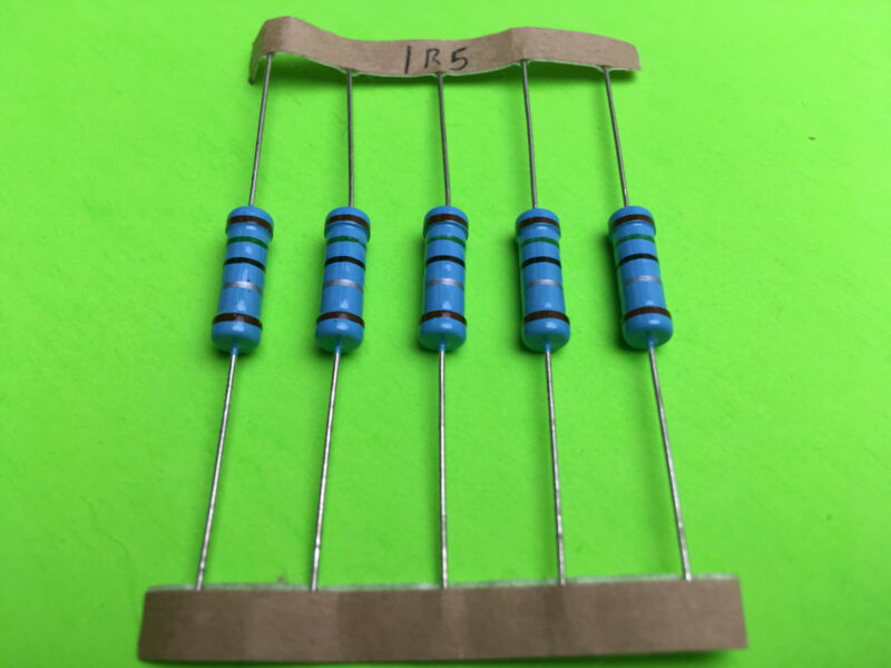 2W 2 Watt 1% Tolerance Metal Film Resistor 5 Pieces  You pick value.