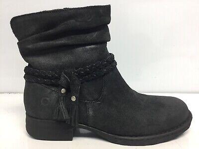 Born Ouvea Bootes Leather Ankle Boots Fashion Boots Tasseled 8.5 M BLACK⭐️