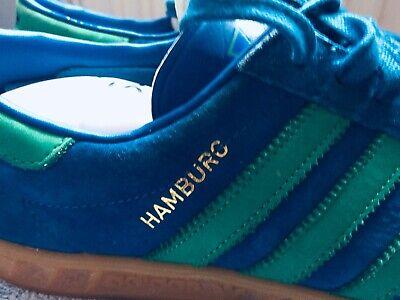 Adidas Originals Hamburg Mens Trainers Uk Size 8 Blue & Green