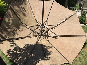9' umbrella with light and stand