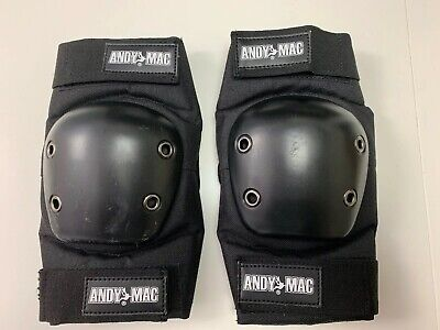 Andy MAC Skateboard Elbow Pads Black/Black Adult  Small (R3)