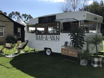 Vintage caravan travelling bar