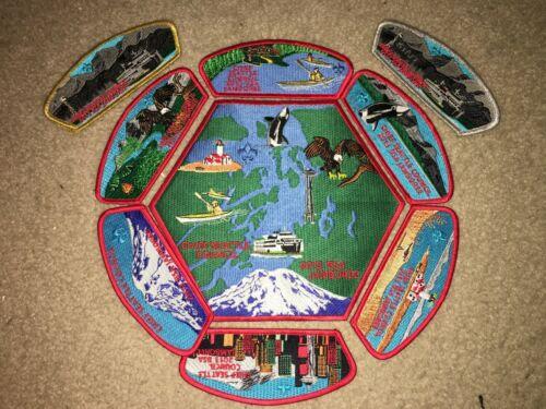Boy Scout BSA Chief Seattle Washington Eagle Council 2013 Jamboree JSP Patch Set