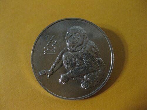2002 Asia coin 1/2 chon Orangutan  Uncirculated beauty very nice