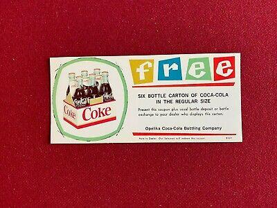 1960's, Coca-Cola, Free 6-Pack Coupon (Santa) Scarce / Vintage